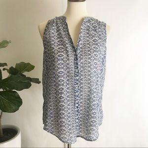 Paige   sleeveless button up shirt